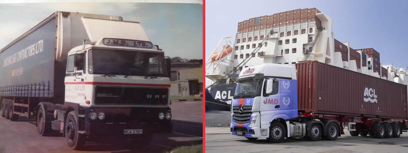 JMD Container Haulier - Old and New